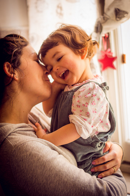 brain visual mom and child
